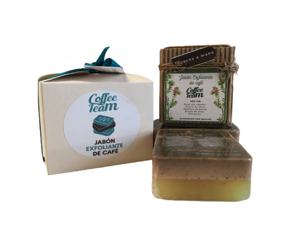 Jabón Exfoliante de Café x 2